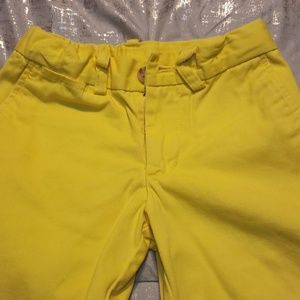 Polo by Ralph Lauren boys yellow tailored shorts